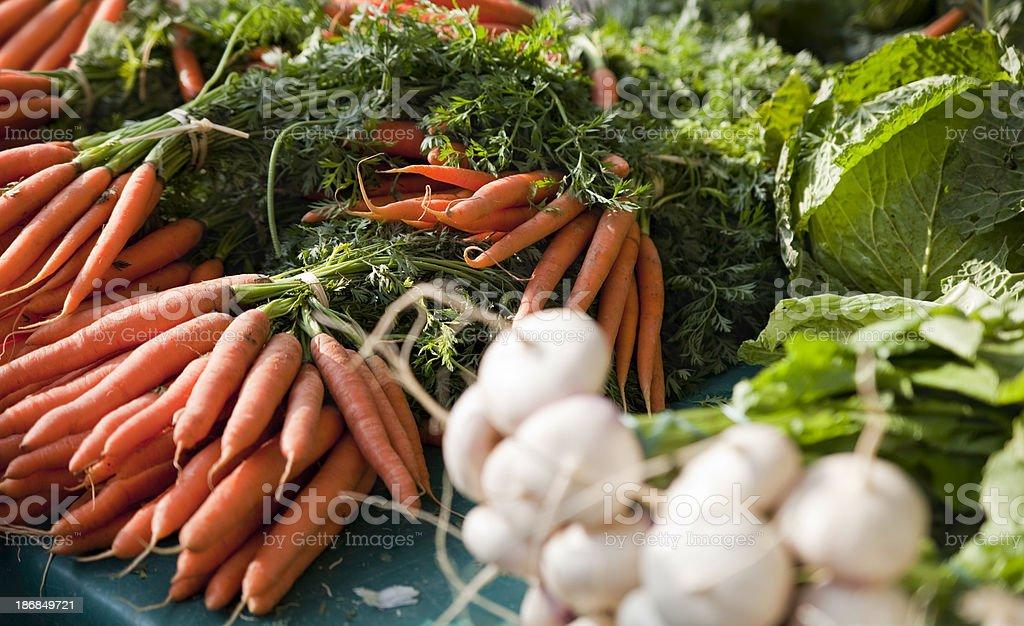 Ogranic Vegetables Carrots stock photo