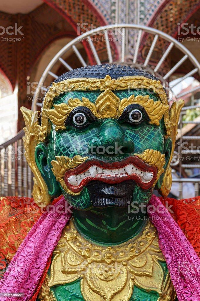Ogre King at Sutaungpyei pagoda, Mandalay Hill stock photo