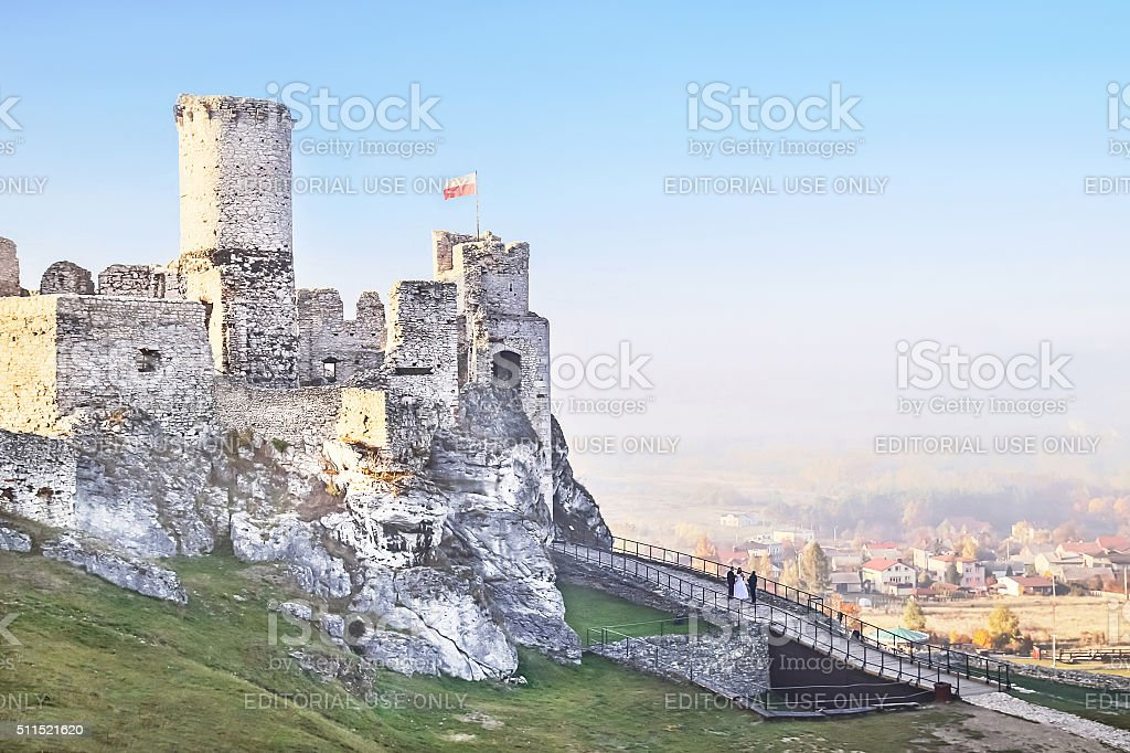 Podzamcze, Poland - October 31, 2015: Ogrodzieniec castle. stock photo