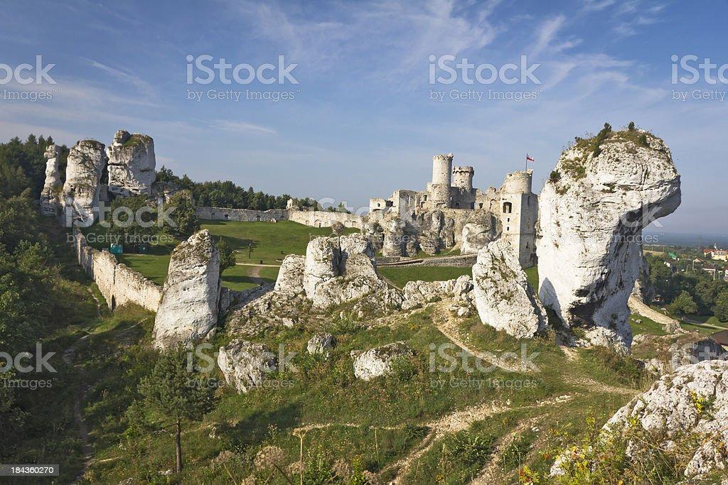 Ogrodzieniec Castle, Poland stock photo