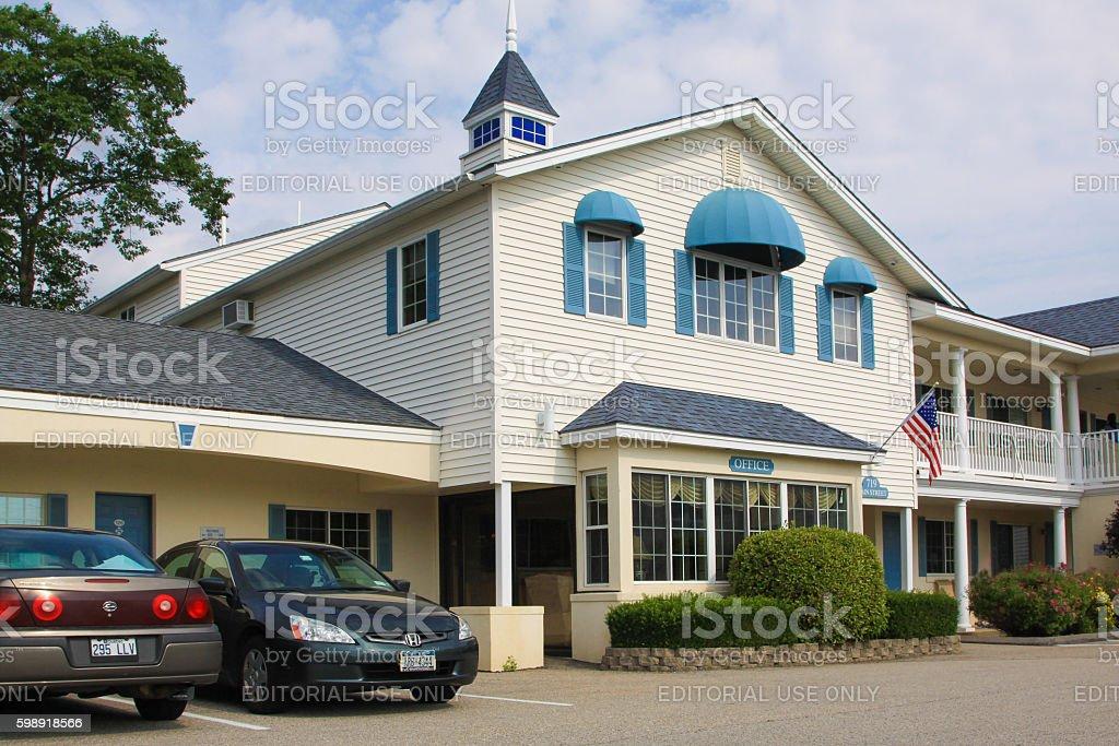 Ogunquit Resort Motel, Ogunquit, Maine, New England, USA. stock photo