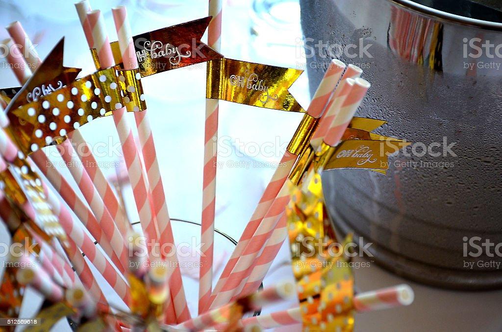 'Oh Baby' straws stock photo