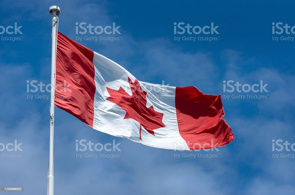'Oh Canada' Canadian Flag stock photo