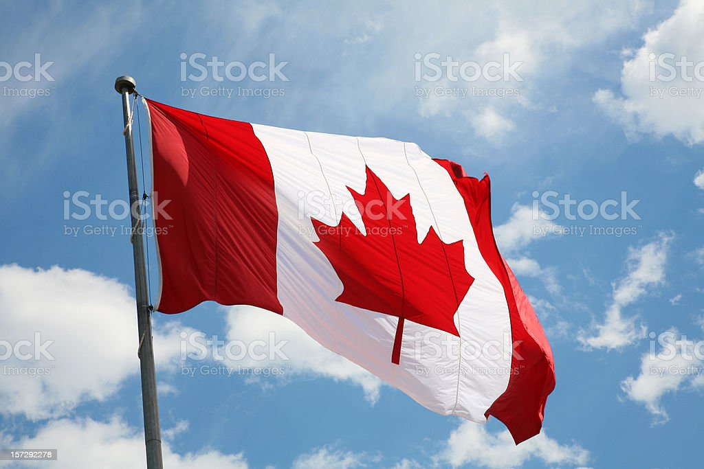 ' Oh Canada' Canadian Flag. royalty-free stock photo