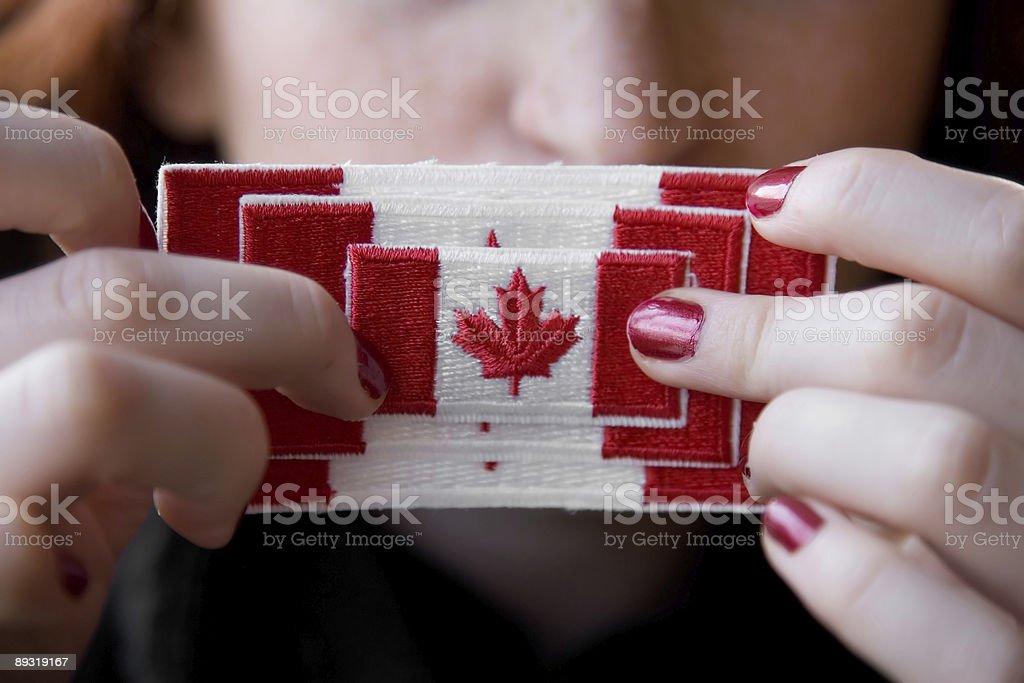 Oh Canada stock photo