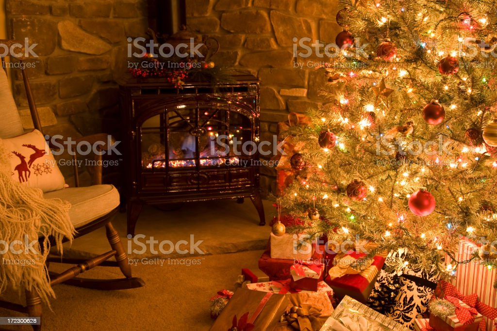 Oh Christmas Tree!  (White lights & Multi-colored mix (XL) royalty-free stock photo