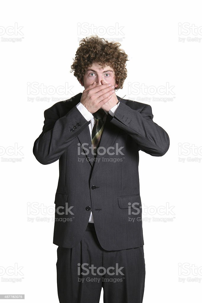 Oh did i say that? stock photo