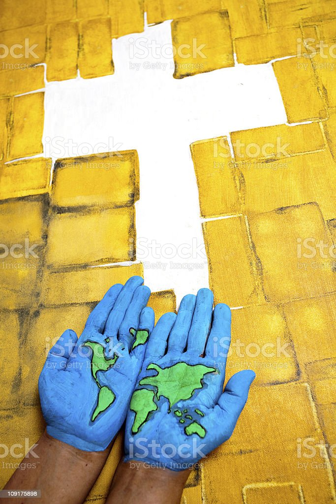 Oh God save the World royalty-free stock photo