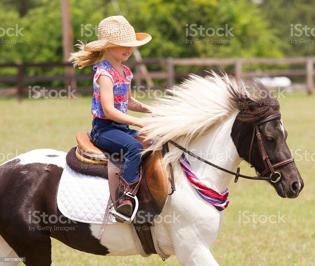 Oh how Sweet My Pony is stock photo