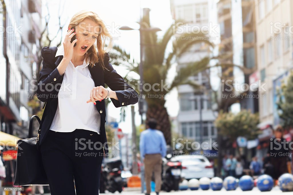 Oh, I'm late! stock photo