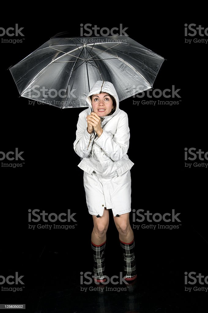 'Oh, It's Raining!' royalty-free stock photo