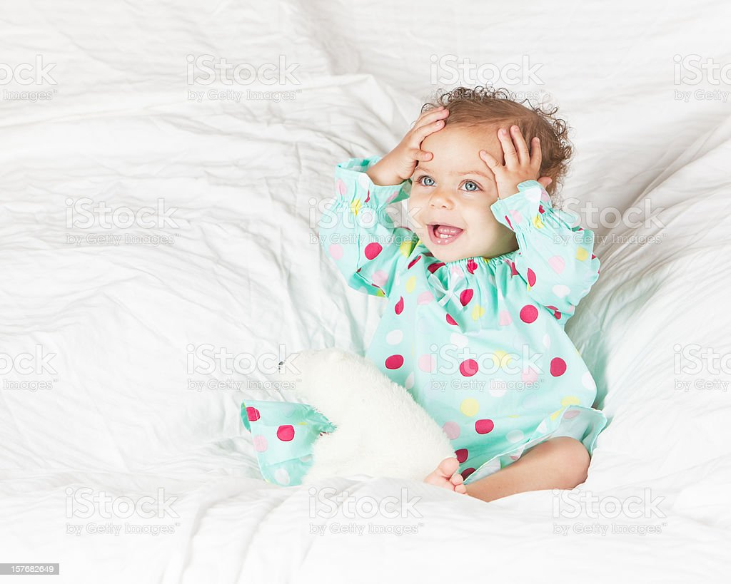 Oh Joy.....A Happy Baby royalty-free stock photo