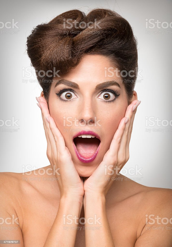 Oh my God Expression royalty-free stock photo