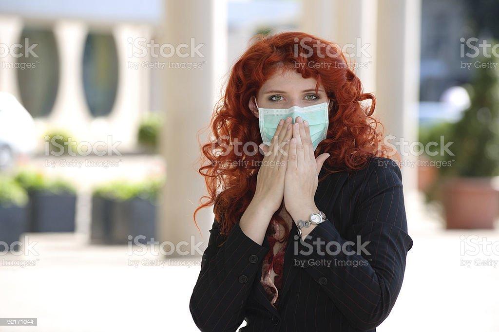 Oh my god! Swine Flu! royalty-free stock photo