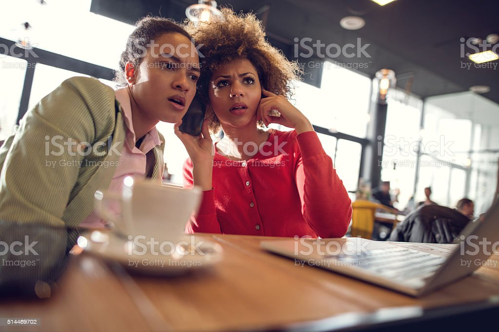 Oh my God, what is he saying? stock photo