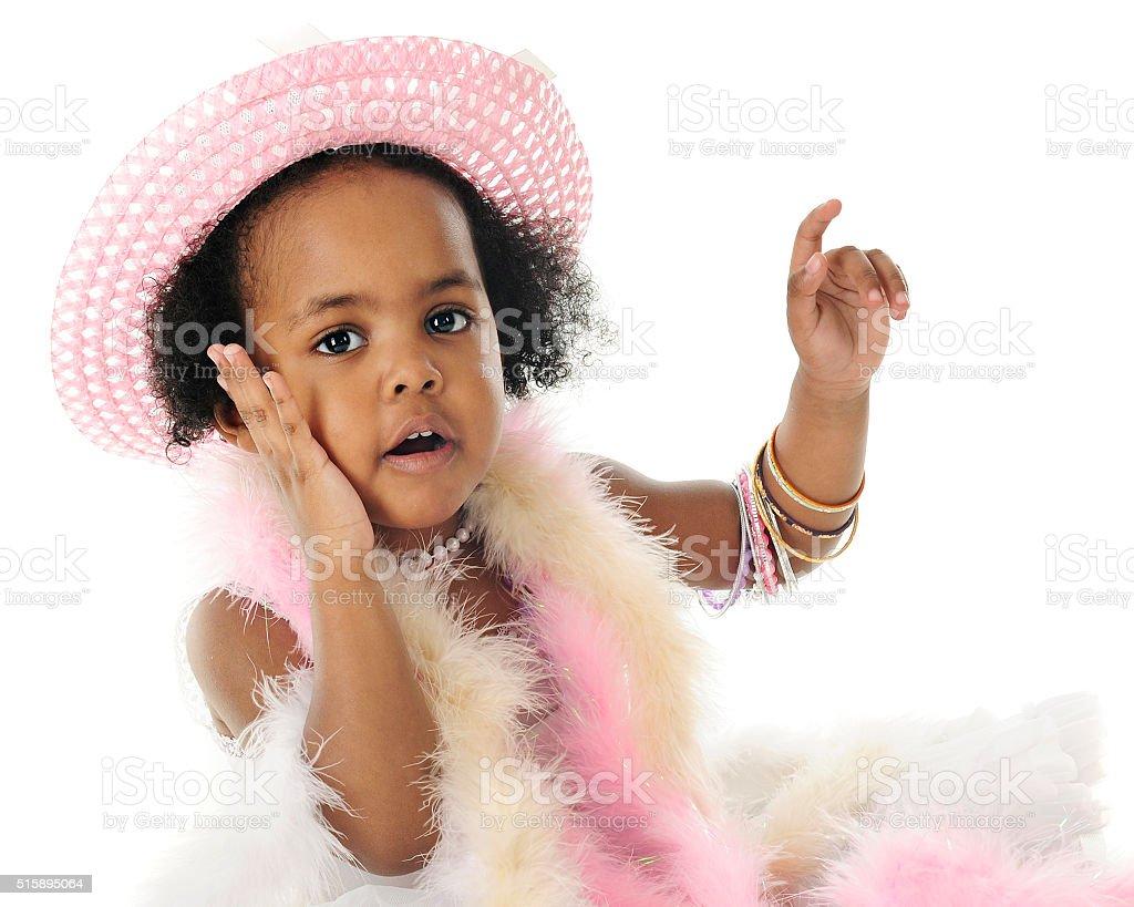 Oh My! Says this Tiny Diva stock photo