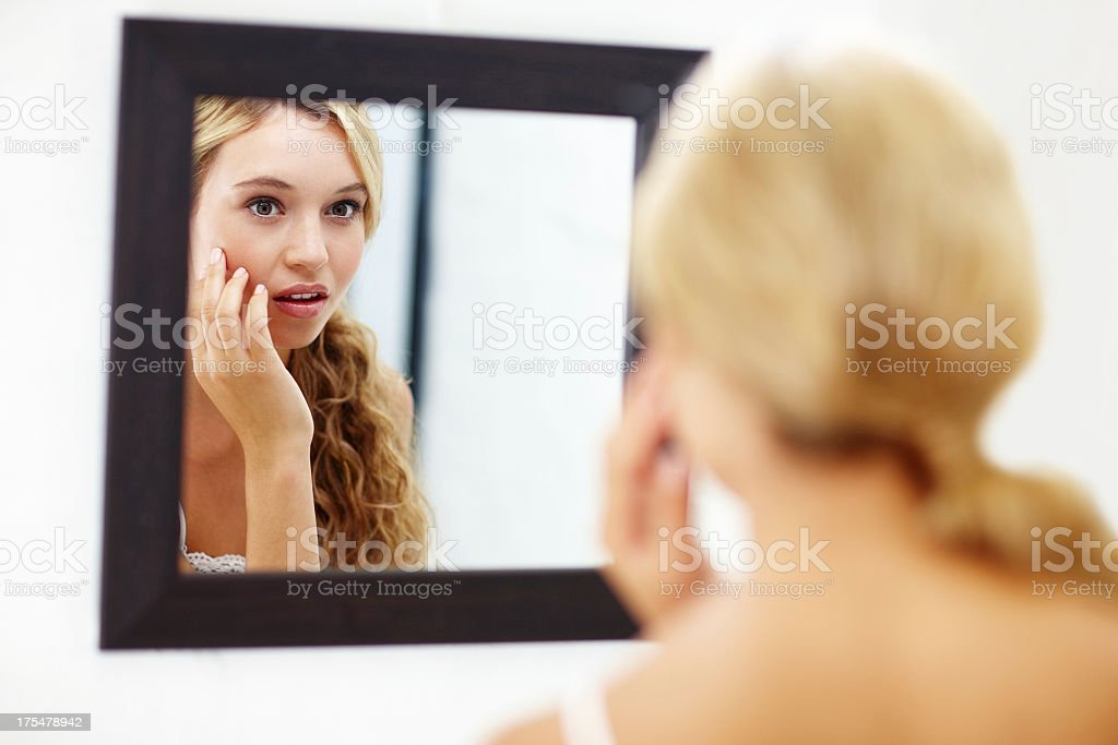 Oh no A blemish stock photo