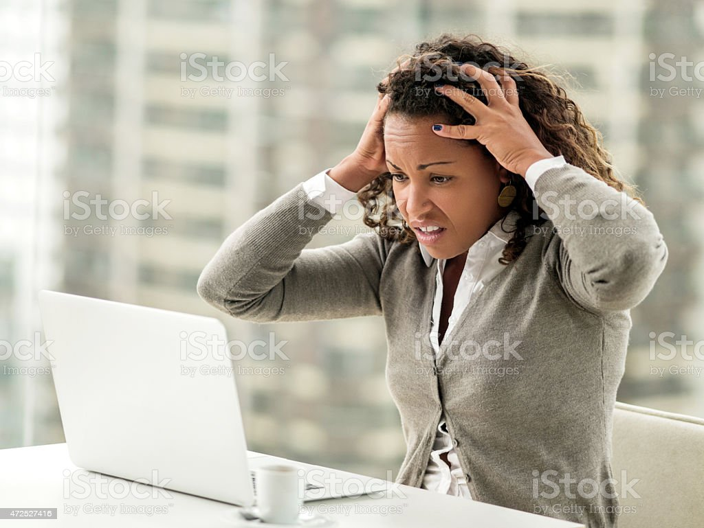 Oh no, I have made a terrible mistake! stock photo