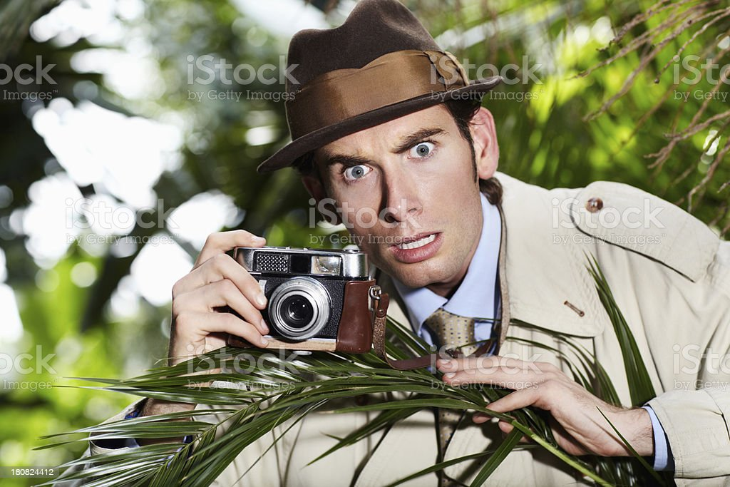 Oh no, I've been spotted! stock photo