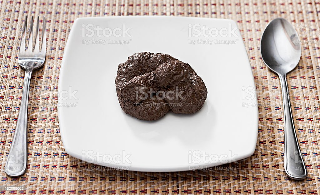 Oh poo, I can't eat that! stock photo