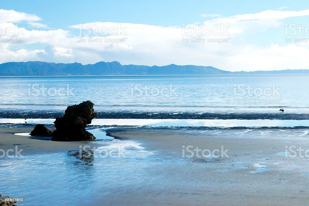 ohara Beach, Golden Bay, New Zealand stock photo