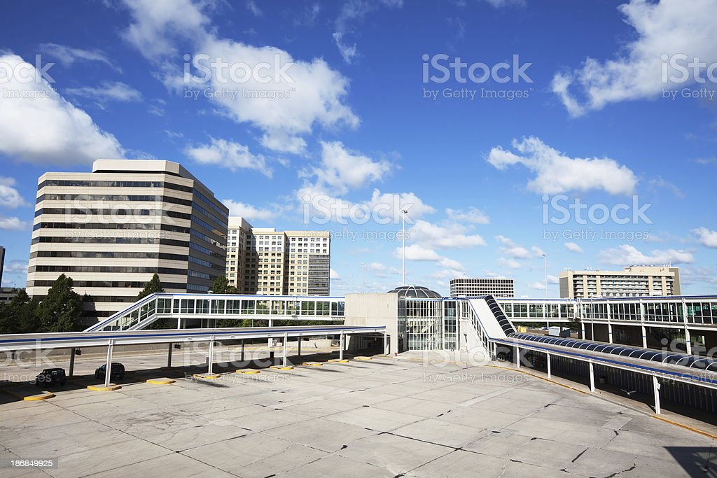 OHare Airport CTA Transportation Hub and Blue Line Station, Chicago royalty-free stock photo