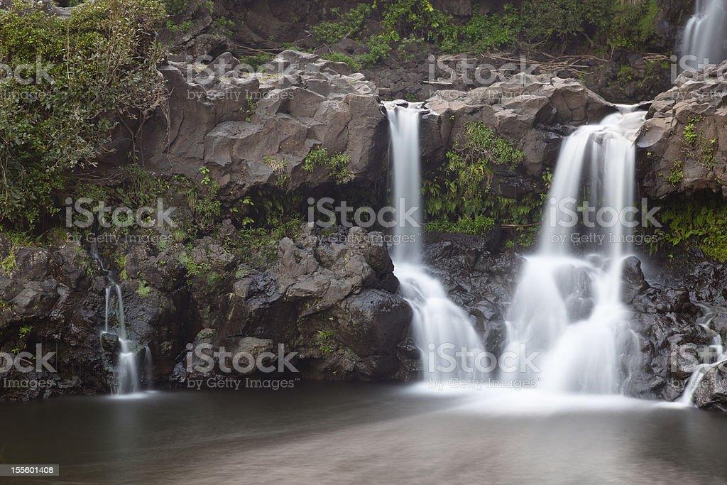 Oheo Gulch Waterfall, Maui royalty-free stock photo