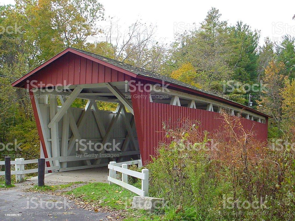 Ohio covered bridge royalty-free stock photo