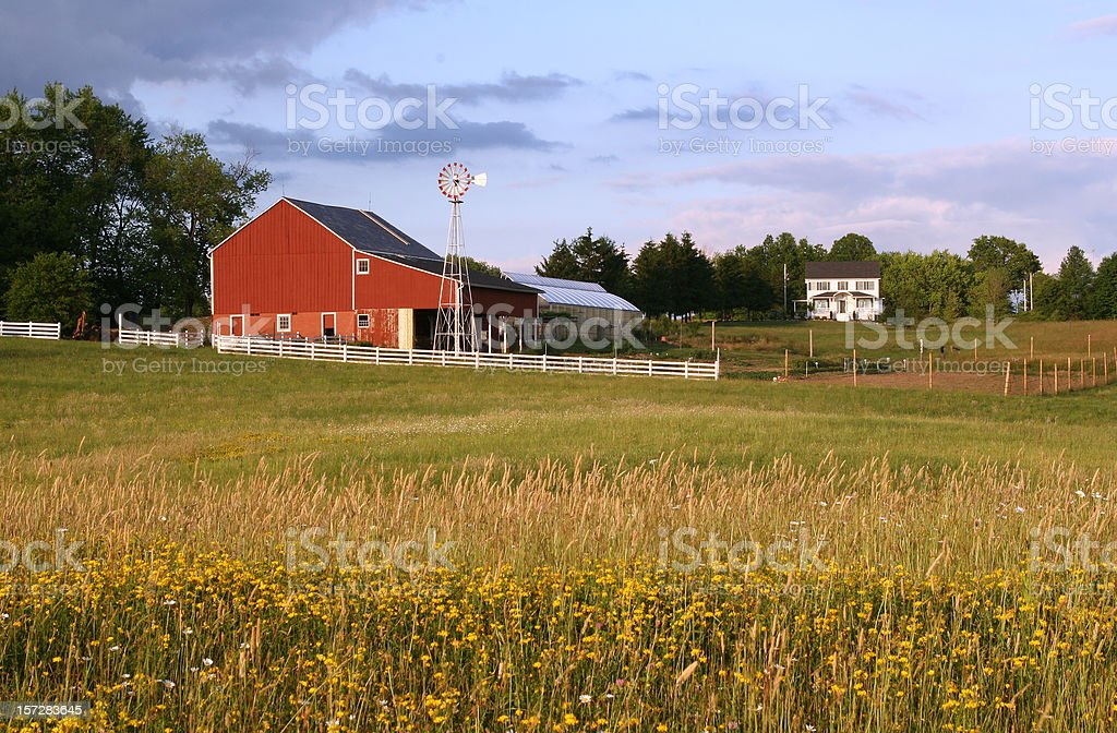 Ohio Farm Barn royalty-free stock photo