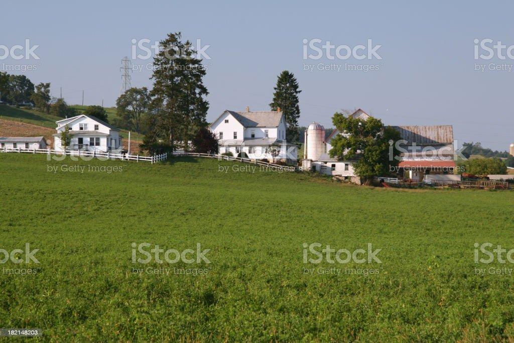 Ohio Hillside Field and Farm royalty-free stock photo
