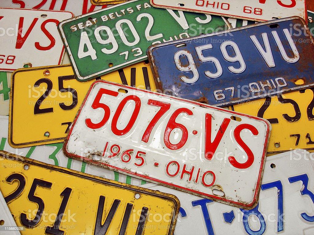 Ohio Plates stock photo