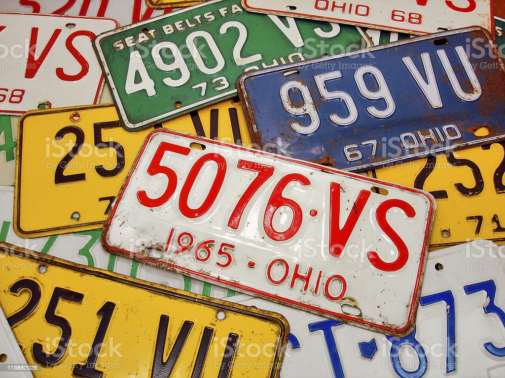 Ohio Plates stock photo