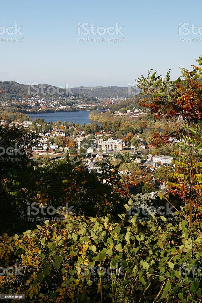 Ohio River Valley View, Wheeling, West Virgina. royalty-free stock photo