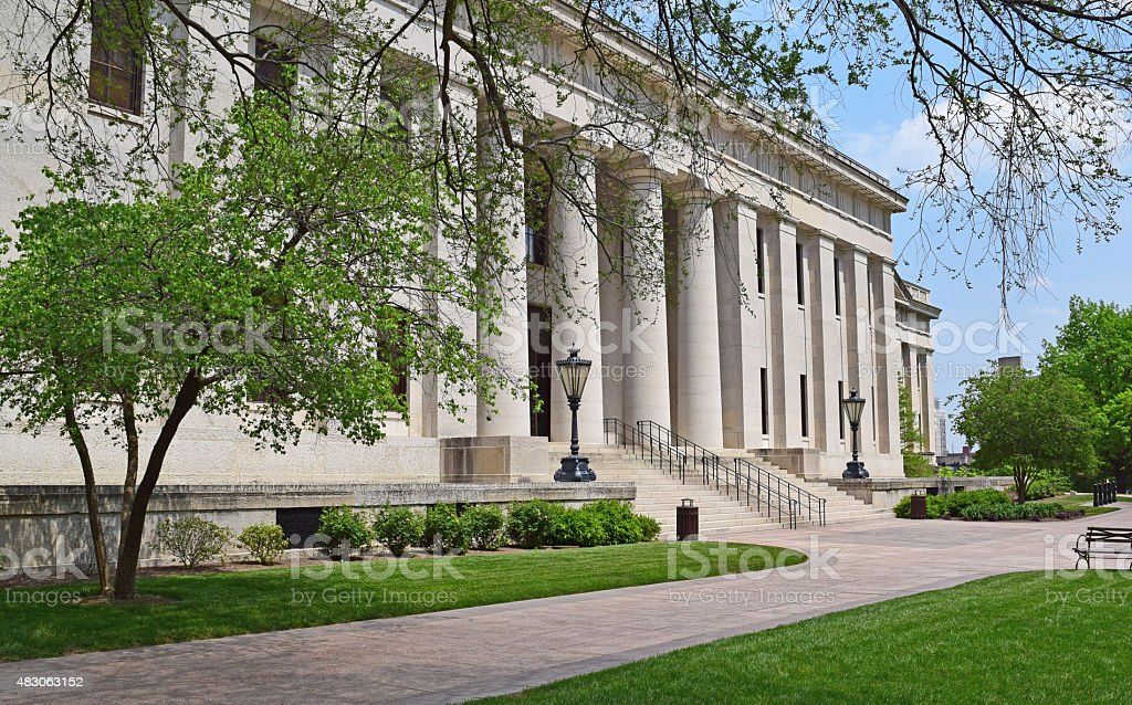 Ohio State Capitol Building in Downtown Columbus Ohio during Springtime stock photo