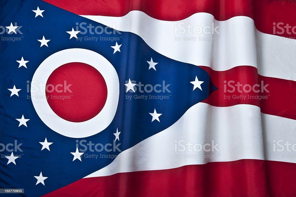 Ohio State Flag, USA. stock photo