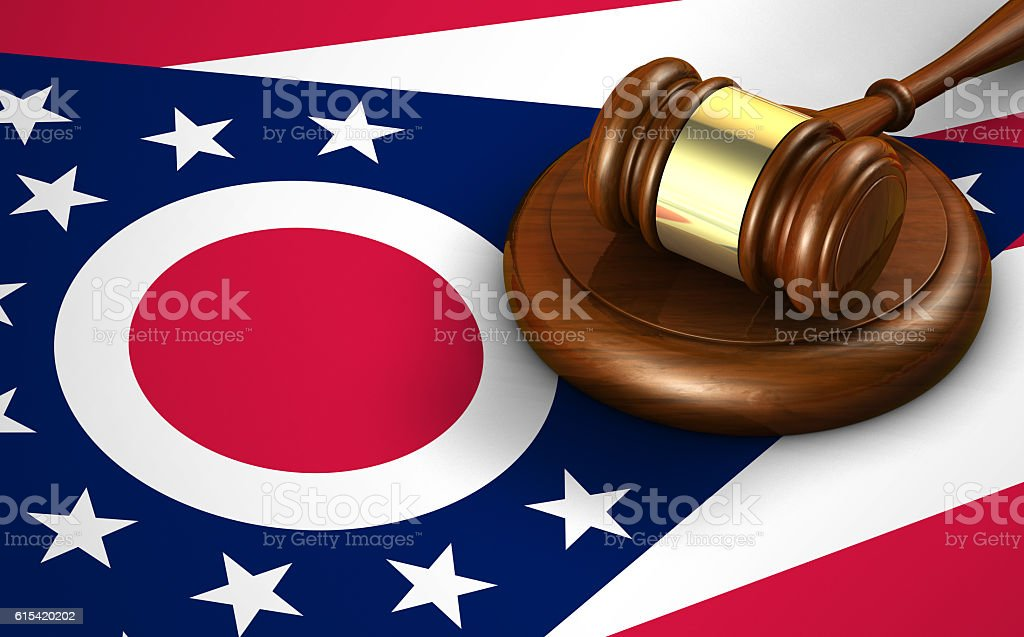Ohio State Law Legal System Concept stock photo