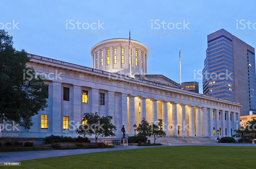 Ohio Statehouse In Columbus stock photo