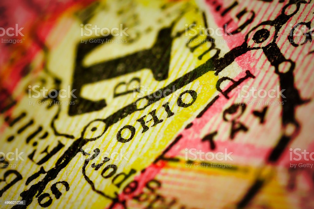 Ohio | West Virginia County Maps stock photo