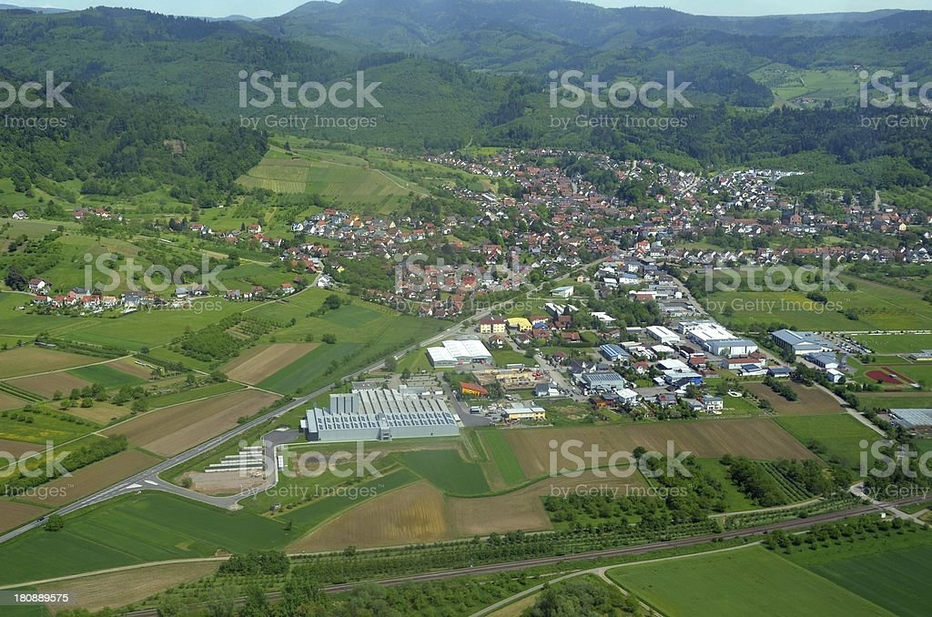 Ohlsbach aerial stock photo