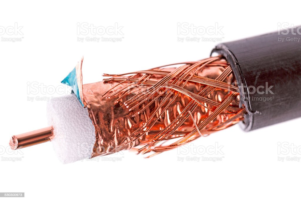 50 ohm coaxial cable stock photo