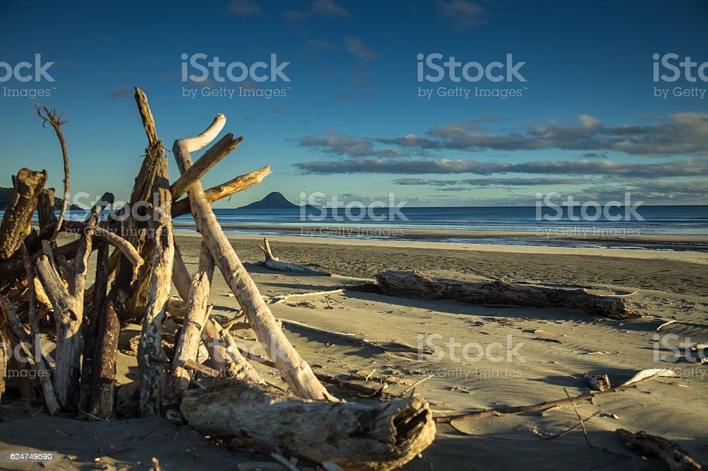 Ohope Beach, New Zealand stock photo