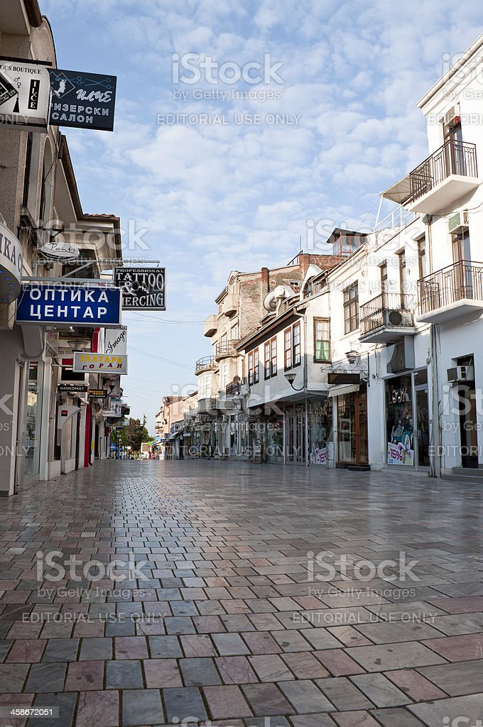 Ohrid Waiting for 'Crowd' to Wake Up royalty-free stock photo