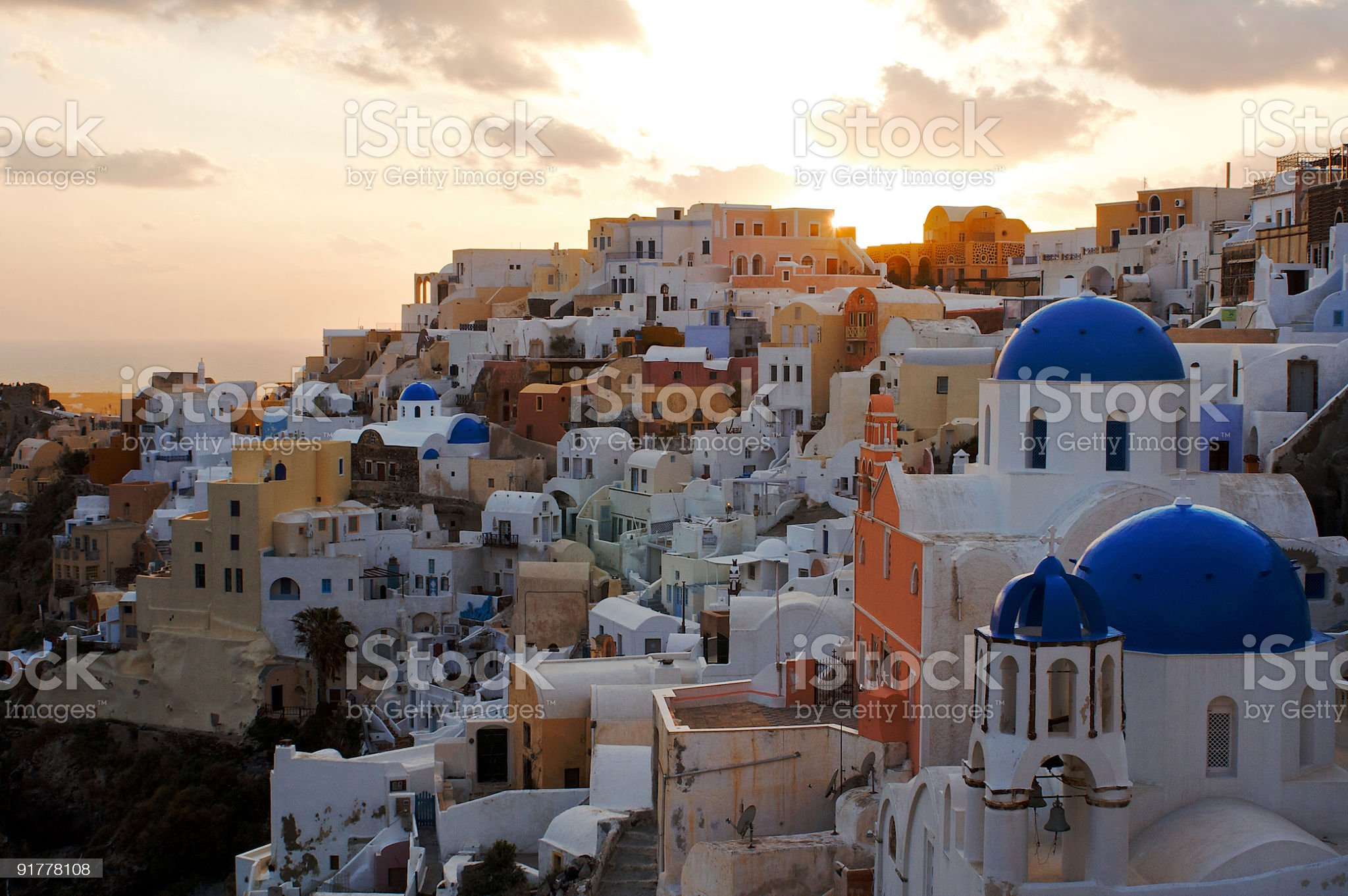 Oia at Sunset royalty-free stock photo