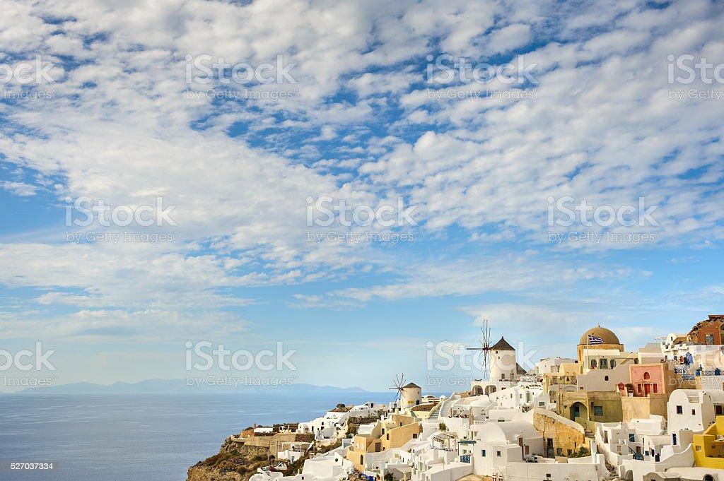 Oia before sunset at Santorini, Greece stock photo