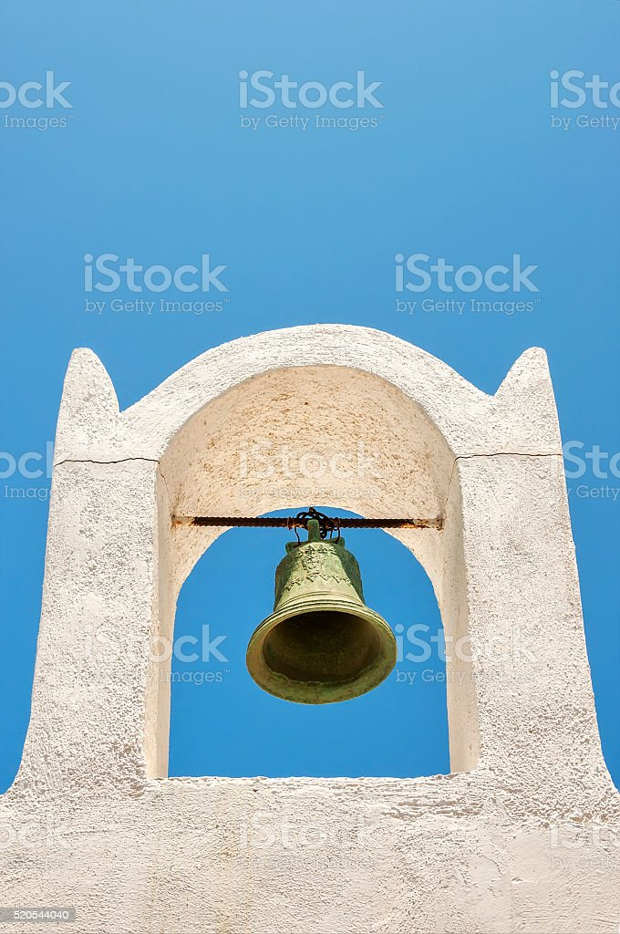 Oia Bell Tower stock photo