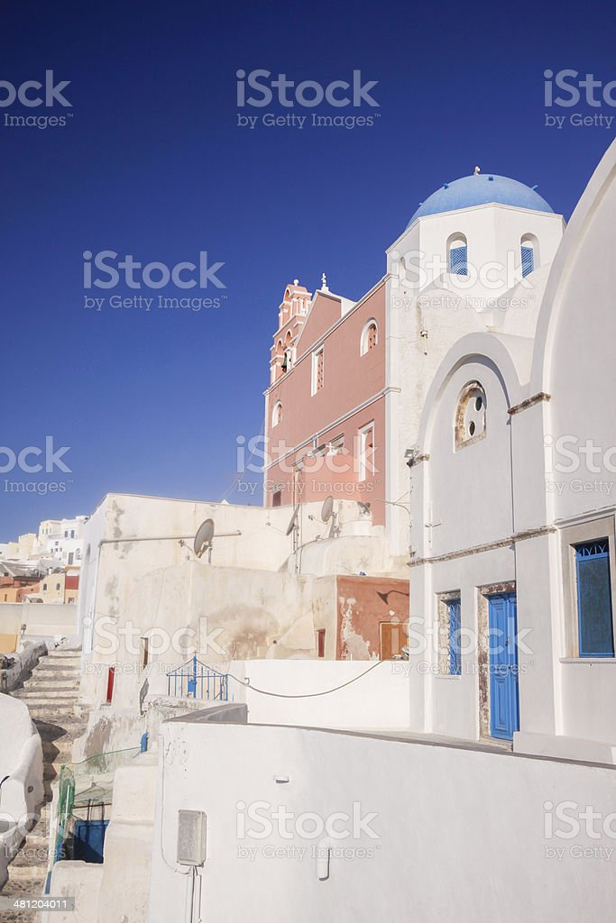 Oia in Santorini, Greece royalty-free stock photo