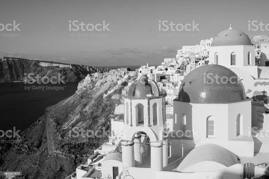 Oia in Santorini, Greece stock photo