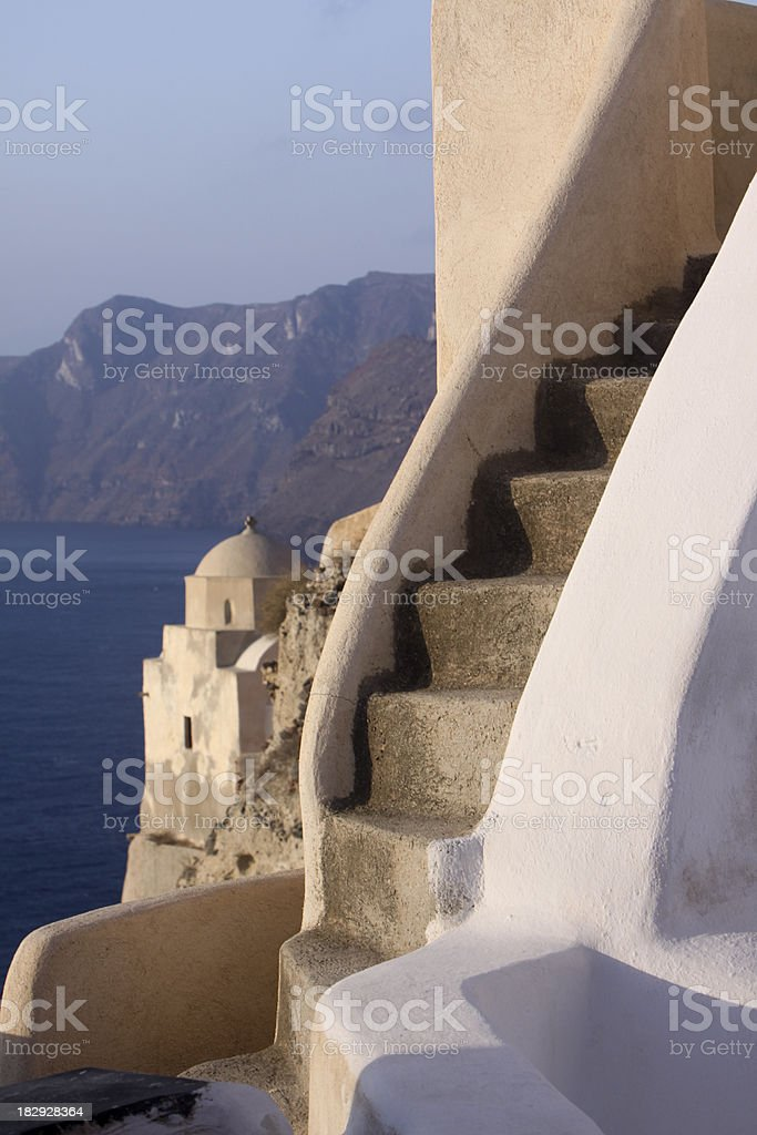 Oia on Santirini the Cyclades, Greece royalty-free stock photo