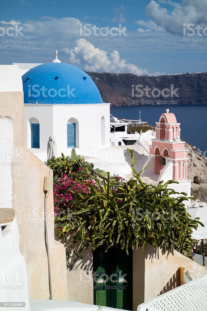 Oia panorama (Santorini - Greece) stock photo