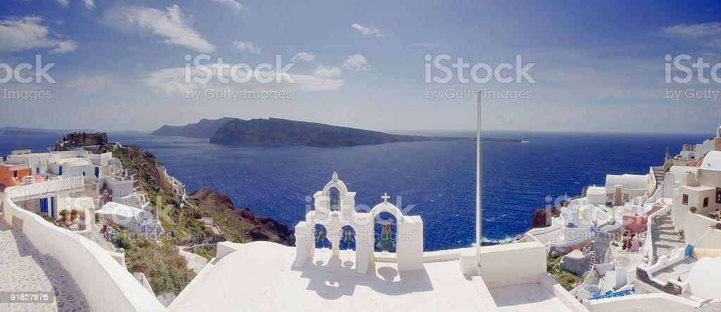 Oia panorama royalty-free stock photo